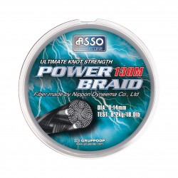 Tresse dypb18ct_asso_power-braid---130-m_18-100_anthracite_fil-nylon-tresse_3504870730182_flashmer_POWER BRAID